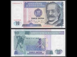 Peru 10 Intis Banknote 1985 UNC (1) Pick 128 (24643