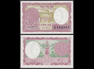 NEPAL - 1 RUPEES (1965) Banknote UNC (1) Pick 12 (24686