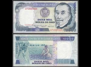 PERU 10000 10.000 Soles 1981 Pick 124 VF (3) (24693