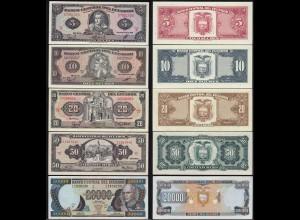 Ecuador 5,10,20,50,20000 Sucres Banknoten aUNC (14776