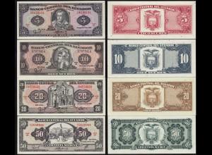 Ecuador 5,10,20,50 Sucres Banknoten 1988 UNC (1) (14775