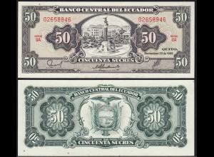 Ecuador 50 Sucres Banknoten 1988 Pick 122 UNC (1) (14774