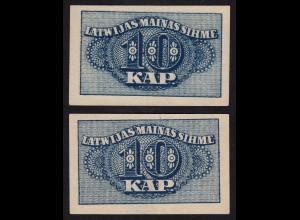 Lettland - Latvia 10 Kapeikas 1920 Banknoten Pick 10a aUNC (1-) (16149
