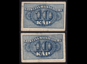 Lettland - Latvia 10 Kapeikas 1920 Banknoten Pick 10a F (4) (16150