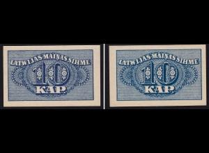 Lettland - Latvia 10 Kapeikas 1920 Banknoten Pick 10a UNC (1) (16151
