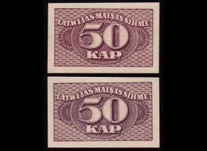 Lettland - Latvia 50 Kapeikas 1920 Banknoten Pick 12a UNC (1) (16152