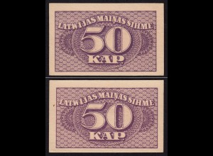Lettland - Latvia 50 Kapeikas 1920 Banknoten Pick 12a aUNC (1-) (16153