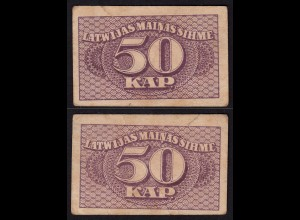 Lettland - Latvia 50 Kapeikas 1920 Banknoten Pick 12a F (4) (16154