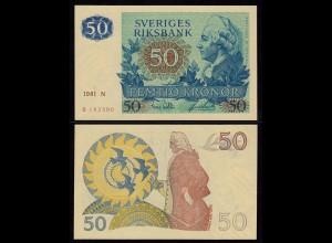 Schweden - Sweden 50 Kronen 1981 UNC (1) Pick 53c (16159