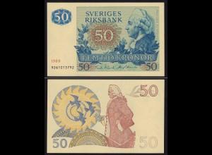 Schweden - Sweden 50 Kronen 1989 aUNC (1-) Pick 53d (16160