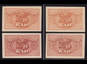 Lettland - Latvia 2 pieces á 25 Kapeikas 1920 Pick 11a UNC (1) differ. color