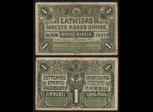 Lettland - Latvia 1 Rublis 1919 Serie B Pick 2a F (4) (16145