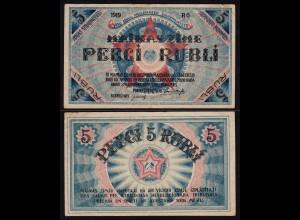 Lettland - Latvia 5 Rublis 1919 Riga Soviet Governement Pick R3 VF- (3-)
