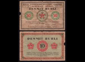 Lettland - Latvia 10 Rublis 1919 Riga Soviet Governement Pick R5 VG (5) (16138