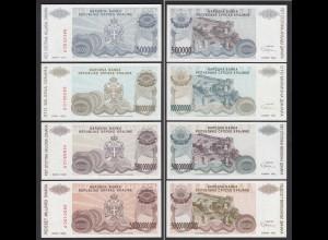 Kroatien - Croatia 4 Stück Banknoten UNC (1) (24700