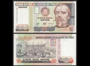 PERU 100.000 100000 Intis 1989 Pick 145 UNC (1) (24707
