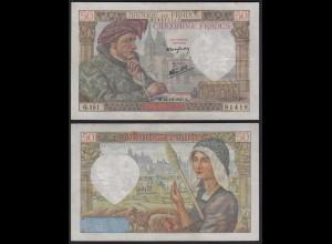Frankreich - France - 50 Francs 18-12-1941 Pick 93 VF (3) (24716
