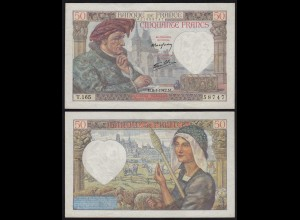 Frankreich - France - 50 Francs 8-1-1941 Pick 93 XF (2) (24717