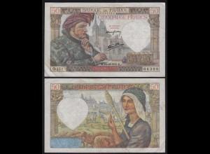Frankreich - France - 50 Francs 18-12-1941 Pick 93 VF+ (3+) (24718
