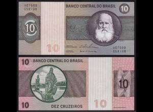 Brasilien - Brazil 10 Cruzeiros Sig.18 Pick 193b UNC (1) (16107