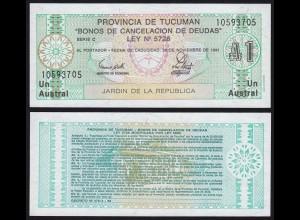 Argentinien - Argentina 1 Australs Banknote,1991, Pick S2711b UNC (1) (16111