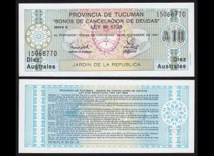Argentinien - Argentina 10 Australs Banknote,1991, Pick S2713b UNC (1) (16112