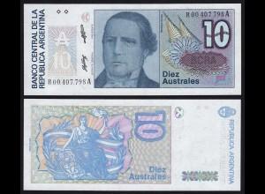 Argentinien - Argentina 10 Australes Replacement Banknote UNC Pick 325 (16115