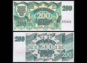 Lettland - Latvia 200 Rubel Banknoten 1992 Pick 41 UNC (1) (16122