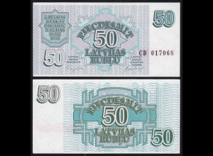 Lettland - Latvia 50 Rubel Banknoten 1992 Pick 40 UNC (1) (16123