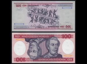 Brasilien - Brazil 100 Cruzados Banknote (1981) Pick 198a UNC Sig.20 (16104