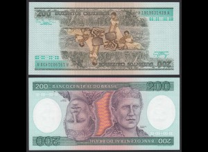 Brasilien - Brazil 200 Cruzados Banknote (1981) Pick 199a UNC Sig.20 (16103