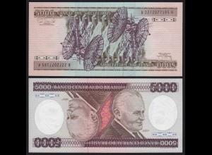 Brasilien - Brazil 5000 Cruzados Banknote (1985) Pick 202d UNC Sig.22 (16101
