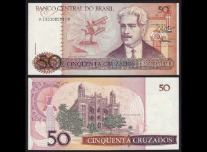 Brasilien - Brazil 50 Cruzados Banknote (1987) Pick 210b UNC Sig.25 (16100
