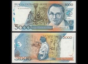 Brasilien - Brazil 5 auf 5000 Cruzados (1989) Pick 217b UNC Sig.27 (16099