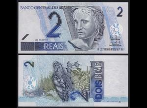 Brasilien - Brazil 2 Reals (2001) Pick 218b UNC Sig.40 (16097