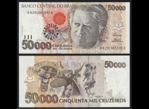Brasilien - Brazil 50 Cruzeiros Reais (1993) Pick 237 UNC (16094