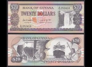 GUYANA 20 DOLLAR BANKNOTE 1989 Pick 27 sig.7 UNC (1) (16086
