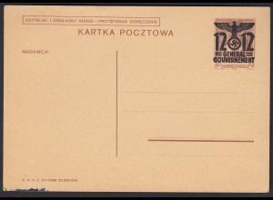 Generalgouvernement Polen Ganzsache Mi. P4 ungebraucht (310