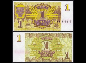 Lettland - Latvia 1 Rubel Banknoten 1992 Pick 35 UNC (1) (16128