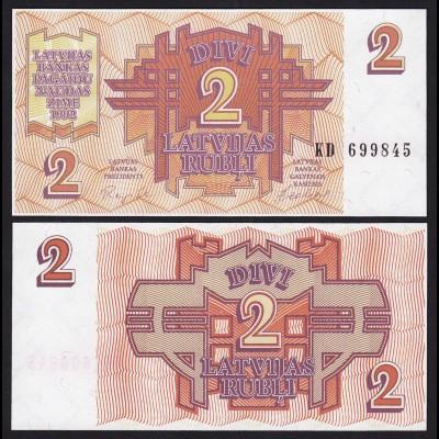Lettland - Latvia 2 Rubel Banknoten 1992 Pick 36 UNC (1) (16127