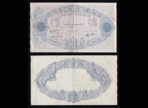 Frankreich - France 500 Francs 1939 Pick 88c gutes F (4) (16172