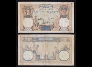 Frankreich - France 1000 Francs 1938 Pick 90c F (4) (16174