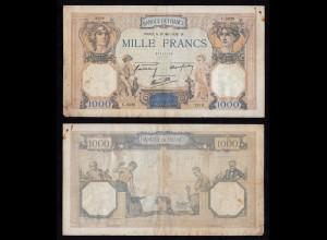 Frankreich - France 1000 Francs 1938 Pick 90c F (4) (16175