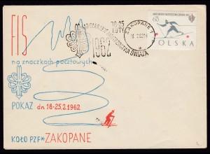 1962 Ski Langlauf Skilanglauf Zakopane Polen Umschlag SST (16474