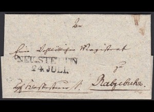 Preussen ca.1825 kleiner Umschlag aus NEU-STETTIN L2 Stempel (24580