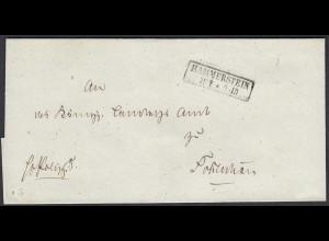 Preussen Umschlag HAMMERSTEIN R2 Westpreussen (24578