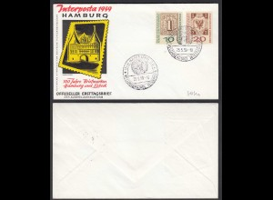 BRD Bund 1959 Mi. 310/11a INTERPOSTA HAMBURG auf FDC (23499