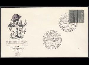 BRD Bund 1956 Mi. 248 Kriegsgräberfürsorge auf FDC (23505