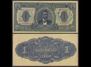 BRASILIEN - BRAZIL 1 MIL REIS Banknote 1921 Pick 8 aXF (2-) 24756