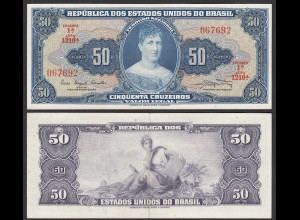 Brasilien - Brazil 50 Cuzeiros (1961) Pick 169a aXF (2-) sig.9 (24769